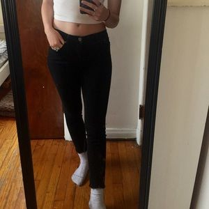 Forever 21 black jeans, cuffed pant